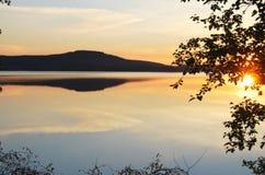 Sun Midnight Immagine Stock