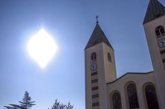 Sun miracle in Medjugorje Stock Images