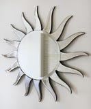 Sun mirror. Wall mirror in sun shape with rays stock photography