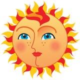 Sun mit Blauaugen Lizenzfreie Stockbilder