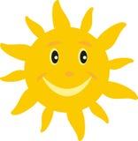 Sun mit einem Lächeln Stockbilder