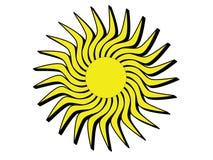 Sun mit schwarzen Rändern Stockbilder