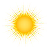 Sun mit Strahlen stock abbildung