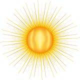 Sun mit vielen Strahlen vektor abbildung