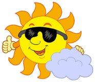 Sun mit Wolke Lizenzfreies Stockfoto