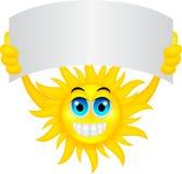 Sun mit Zeichen stock abbildung