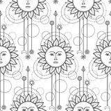 Sun Modern Seamless Pattern Royalty Free Stock Images