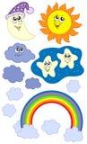 Sun-Mond- und Wetteransammlung Lizenzfreie Stockbilder