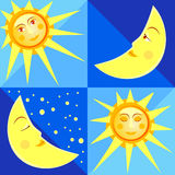 Sun and moon Stock Image