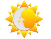 Sun and Moon... Stock Photo