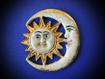 Sun and moon, decoration Stock Photos