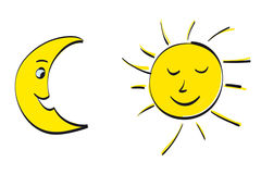 Sun and Moon Royalty Free Stock Photography