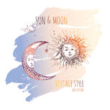 Sun and moon. Stock Images