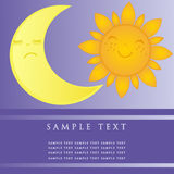 Sun  moon icons Royalty Free Stock Images