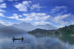 Sun Moon Lake. Taiwan Tourism Holy Land. One of alpine lakes stock images