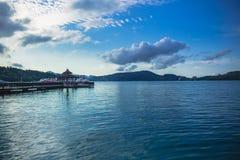 Sun moon lake. A beautiful landscape view at the Ita Thao pier, Sun Moon Lake, taiwan stock photos