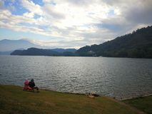 Sun moon lake, Taiwan stock photos
