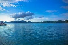 Sun moon lake. Landscape view of Sun Moon Lake, Taiwan royalty free stock photos