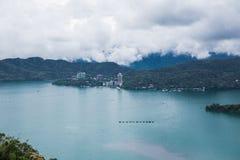 Sun moon lake. Landscape view of Sun Moon Lake, Taiwan royalty free stock images