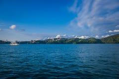 Sun moon lake. Landscape view of Sun Moon Lake, Taiwan royalty free stock photography