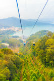The Sun Moon Lake Ropeway is a scenic gondola cable car service Stock Photos