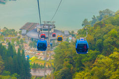 The Sun Moon Lake Ropeway is a scenic gondola cable car service Stock Image