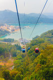 The Sun Moon Lake Ropeway is a scenic gondola cable car service Royalty Free Stock Images