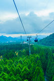 The Sun Moon Lake Ropeway is a scenic gondola cable car service Stock Images