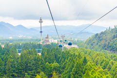 The Sun Moon Lake Ropeway is a scenic gondola cable car service Royalty Free Stock Photo