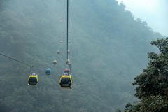 SUN MOON LAKE ROPEWAY. The ropeway from sunmoon lake station to formosan culture village stock images