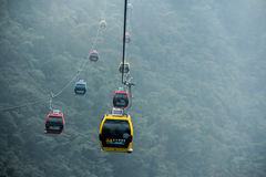 SUN MOON LAKE ROPEWAY. The ropeway from sunmoon lake station to formosan culture village stock photography