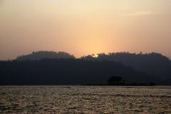 Sun Moon Lake Sunset. Sun Moon Lake, Taiwan sunset stock photography