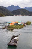 Sun Moon Lake, Taiwan. Living on the Sun Moon lake in Taiwan royalty free stock photography