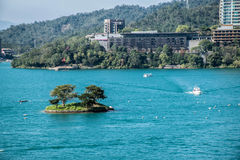 Sun Moon Lake in Taiwan royalty free stock photo