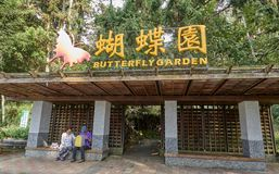 SUN MOON LAKE, TAIWAN - NOVEMBER 9, 2017: Butterfly garden on 9 Royalty Free Stock Image