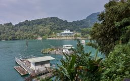 SUN MOON LAKE, TAIWAN - NOVEMBER 9, 2017: Tourist harbor on 9 No Royalty Free Stock Photos