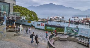 SUN MOON LAKE, TAIWAN - NOVEMBER 11, 2017: Tourist harbor on 11 Royalty Free Stock Image