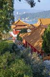 SUN MOON LAKE, TAIWAN - NOVEMBER 9, 2017: Wenwu temple on 9 Nove Stock Photography