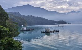 Sun Moon Lake is one of the most popular tourist destinations in. Sun Moon Lake in Taiwan is one of the most popular tourist destinations royalty free stock images