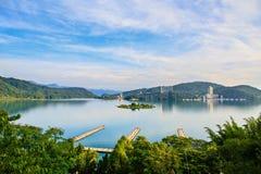 Sun Moon lake ,Taiwan. Sun Moon Lake in sunny day Stock Photos