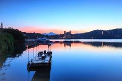 Sun Moon lake ,Taiwan. Sun Moon Lake under the blue sky Stock Image