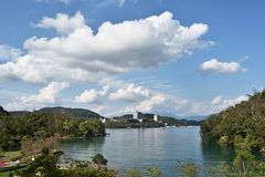 Sun Moon Lake. A view of the famous Sun Moon Lake in central Taiwan royalty free stock photography