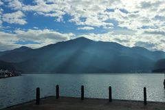 Sun Moon Lake Yuchi Nantou county Taiwan royalty free stock photo
