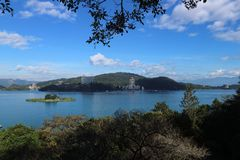 Sun Moon Lake Yuchi Nantou county Taiwan royalty free stock photos