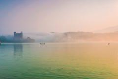 Sun moon lakes beautiful morning Royalty Free Stock Image