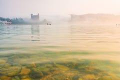 Sun moon lakes beautiful morning Royalty Free Stock Photo