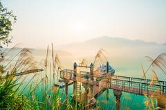 Sun moon lakes beautiful morning Stock Photography
