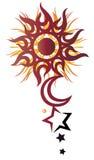 Sun, moon, stars Royalty Free Stock Photo