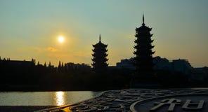 Sun Moon tower Royalty Free Stock Photo
