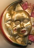 Sun and moon from venice. Mask stock photography